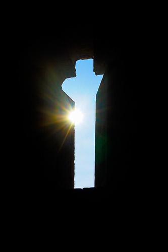 Sun through the ancient church window