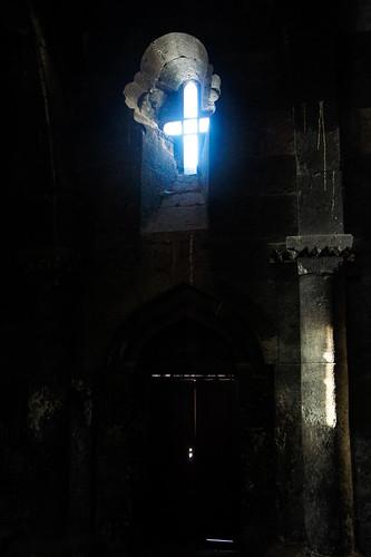 Saghmosavank monastery interior