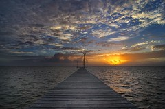 Dawn Pier (Tom Haymes) Tags: orange water clouds sunrise dawn pier dock texas fishingpier gulfcoast palacios texasgulfcoast matagordabay palaciostexas gulfofmexio trespalaciosbay trespalaciosbaytexas matagordabaytexas