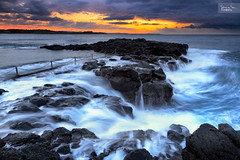 The Surge (SoniaMphotography) Tags: morning seascape motion water pool sunrise rocks natural australia rush nsw volcanic swell kiama illawarra blowholepointrockpool