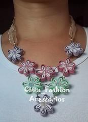 Max Colar Floral (Cissa_Fashion) Tags: primavera bijoux jewerly bijuterias bijouterias flordetecido flordevis maxicolar maxcolar