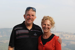 Patty and me in Israel (bobmendo) Tags: 2012 bobmendo mtmeron