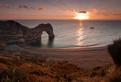 Durdle Door - Autumn Sunset (JamboEastbourne (moving to 500px shortly)) Tags: door sunset england arch natural durdle dorest