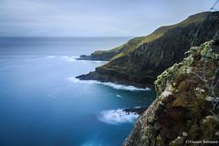 Self vs Nature (Jannis Srensen) Tags: ocean longexposure sea sky clouds rocks faroeislands faroe froyar frerne suuroy