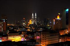 KLCC From GM Plaza (Mohamad Zaidi Photography) Tags: skyline landscape nightshot nightshoot kualalumpur hdr klcc chowkit gmplaza tokina1116 nikond7000