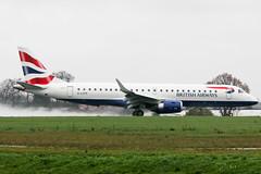 G-LCYP British Airways E190 at Southend EGMC (AeroPics) Tags: ba britishairways edi londoncityairport sen embraer diversion embraer190 edinburghairport southendairport e190 bacityflyer egmc londonsouthendairport cfe01p