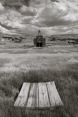 Bodie firehouse from distance (Xiphoid8) Tags: old abandoned decay rustic ghosttown bodie firehouse bodieghosttown monocounty abandonedtown bodiecalifornia blackwhitephotos bodieca goldtown monocountyca bodiefirehouse