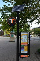Firestone Library bus stop (afagen) Tags: campus newjersey nj busstop transit princeton princetonuniversity tigertransit