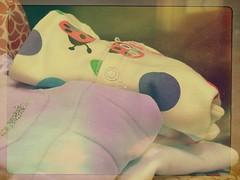 baby shopping (fi0na) Tags: stilllife baby texture photoshop shopping dof bokeh frame ladybird colori pois cornice bimba abiti coccinella tutine