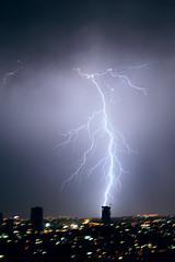 Thunderstorm 6 (Gaby.Bernstein) Tags: sky rain skyline night clouds buildings gaby thunderstorm lightning bernstein thunderbolt thunderbolts lightnings bernsteingaby gabybernstein