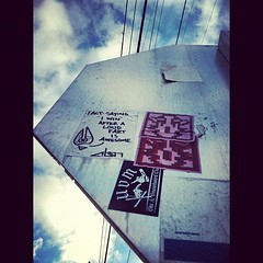(croissantthief) Tags: seattle streetart graffiti stickerart graf stickers slap slaps slaptag abot seattlegraffiti stickerporn