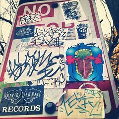 (croissantthief) Tags: seattle streetart graffiti stickerart graf stickers slap capitolhill slaps slaptag seattlegraffiti stickerporn
