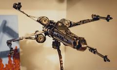 330/366 - X-Wing (JoshBassett|PHOTOGRAPHY) Tags: park sculpture metal star mechanical parts wing x xwing wars build built t16 t65 starfighter incom