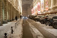 (Petr Magera) Tags: road winter snow moscow snowfall trafficjam