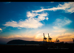 [270/366] Vizag Harbour (puzzlescript) Tags: blue sunset sky nose harbour dolphin breakwater vizag kesari visakhapatnam yzag ravigopal