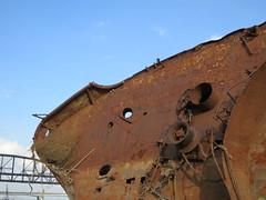Bow (pasa47) Tags: city autumn fall december stlouis mo shipwreck missouri mississippiriver riverfront stl 2012 ussinaugural ussinauguralandmore