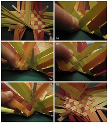 Heart Box Tutorial 3/6 (Dasssa) Tags: origami heart box weaving tutorial paperstrips dasssa