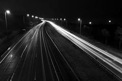 A1 Angel - Dec 2012 (Ben Pearey) Tags: road motorway headlights lighttrails a1 a1m dualcarriageway
