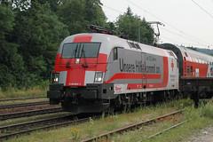 tfz_1116_264_rotes_kreuz_060727 (Prefektionist) Tags: railroad train engine siemens eisenbahn rail railway trains bahn öbb lokomotive lok oebb tfz triebfahrzeug es64