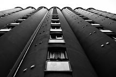Towering Silo (cwaersten) Tags: silo apartments oslo norway bw blackandwhite kuba nikon d90 twop 10fav 20fav 30fav 500 1000 2000