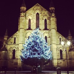 Hexham's Christmas tree (Laura donothey) Tags: christmas december christmastree northumberland fairylights hexham northeastengland hexhamabbey hadrianswallcountry instagram instagramapp lauradonothey