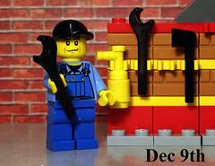 The Mechanic - December 9th (Dave Bond Photography) Tags: christmas city toy advent calendar lego minifig