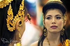 Ear Dressing (Karnevil) Tags: female thailand costume nikon women asia southeastasia bokeh bangkok earring depthoffield ramayana d300 eardressing thaidancers