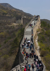 Crowd On The Great Wall, Beijing, China (Eric Lafforgue) Tags: china people mountain color colour brick history nature rock horizontal architecture composition fence outside person photography amazing ancient asia long day image fort outdoor miracle empty extreme beijing location achievement greatwall badaling length ancientcivilization protection fortress groupofpeople brilliant buildingfront greatwallofchina mountainrange eastasia chineseculture pekin northchina capitalcity realpeople colorimage historicallandmark famousplace landfeature buildingexterior nationallandmark colorpicture nonurbanscene fortifiedwall internationallandmark highangleview focusonforeground imagetype beijingprovince builtstructure mixedagerange mg9614 groupofpersons