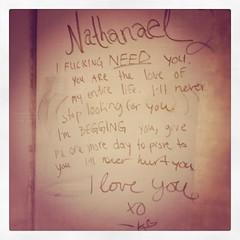 Love Letter (bredgur) Tags: love apple k wall graffiti heart need letter xo emeryville begging loveyou nathanael iphone prove loveletter instagram