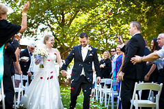 New life together (Sooti Tan) Tags: family trees wedding green canon happy groom bride couple moments joy sydney marriage bluemountains everglades weddings dslr weddingphotography wsavenue petalthrowing