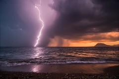 A Storm Is Coming (Christophe_A) Tags: light sunset sea seascape storm night nikon greece lightning christophe thunder d800 patra christopheanagnostopoulos magagr magaphotoaward χριστοφοροσαναγνωστοπουλοσ χριστόφοροσαναγνωστόπουλοσ