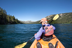 Marlene on Independence Lake_4087 (hkoons) Tags: aspen group independence lake jackson meadow reservoir peace corps spring unit tahoe national forest 2016 sierra sierras boat campout kayak mountians paddle recreation rpcv water