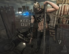 #283. Born with no soul, lack of control (Gui Andretti) Tags: men man fight warrior zombie apocalipse guys boys attitude hard style badass theforge ez remarkableoblivion ro theepiphany gabriel thecrossroad backbone mensdept tmd grunge second life avatar roleplay rpg deco thesecretaffair