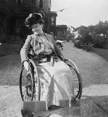 Edwardian polio girl in wheelchair (jackcast2015) Tags: polio infantileparalysis poliomylitis braces braced calipers handicapped disabledwoman crippledwoman wheelchair