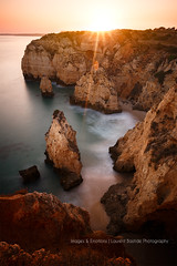 Somewhere in Algarve... (mvdc0w) Tags: algarve summer beautiful ocean sea seascape sunset sunrise green water landscape sand rocks cliffs portugal europe faro south long exposure wow