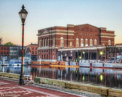 Fells Point Recreation Pier on the harbor at Fells Point (PhotosToArtByMike) Tags: fellspoint baltimore maryland md baltimoreharbor fellspointrecreationpier fellspointnationalhistoricdistrict historicwaterfront waterfrontcommunity storefronts 18thand19thcenturyhomes maritime