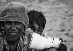 Shy Kamla, Pokaran-India (MeriMena) Tags: pokaran merimena india rural traditional cultures portrates eyes beautiful faces bw woman rajasthan asia canon shy travel canon450d