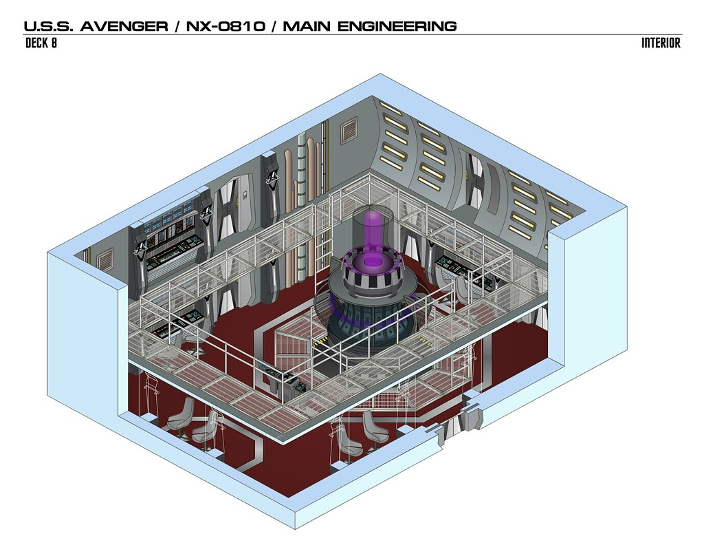 The Worlds Best Photos Of Schematic And Startrek Flickr Hive Mind Star Trek Engineering Schematics Avenger1 Fadmvulcan Tags Interior Isometric Drawing Illustration