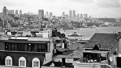 Over the Roofs of stanbul (cokbilmis-foto) Tags: istanbul black white bosphorus bosporus over roofs nice catch thief alfred hitchcock hommage sony rx100 trkiye turkey