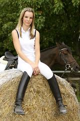 Samantha 17 (The Booted Cat) Tags: sexy blonde riding teen girl boots ridingboots equestrienne jodhpur horse spurs