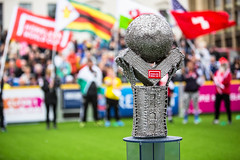 Homeless World Cup 2016. George Square, Glasgow, Scotland - 10th July 2016 (Homeless World Cup Official) Tags: hwc2016 homelessworldcup aballcanchangetheworld thisgameisreal streetsoccer glasgow soccer trophy flag openingceremony scotland