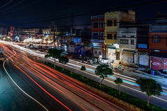 Beautiful Chaos (Aleem Yousaf) Tags: beautiful chaos light trails traffic long exposure road 1835mm nikon d800 sialkot pakistan night low