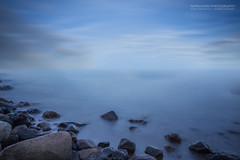 Long Hazy Expo (Normann Photography) Tags: marineenvironment ps blury edit float haze hazy marinelife mist misty process rocks seascape shore tnsberg vestfold norge no