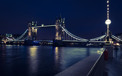 Tower bridge London (technodean2000) Tags: tower bridge london england river thames nikon d610 lightroom blue hour night lights outdoor architecture waterfront water