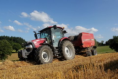 Case iH Maxxum 110 +  Case ih  RB 454 (Philippe-03) Tags: caseih case tracteur tractors paille agriculture campagne maxxum