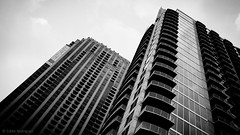 We are both tall... (eduardo.rodriguez87) Tags: ifttt 500px atlanta bw black white blue building city cityscape cityscapes clear clouds exploration glass monochrome original photo date rated showcase sky skyscraper sunset urban wow blackandwhite photodate architecture lines