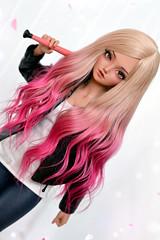 (4arllin) Tags: bjd minifee mnf doll alpaca wig fairyland tan shushu mod sp