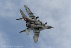 """Mikoyan MiG-29 """"Fulcrum"""" (Dan Martins1) Tags: jet jets fighter display riat riat2016 motion reheat burners military fairford flight plane airshow power engines polishairforce polish mig mig29 wings"""
