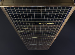 20160917. Peering way up Toronto's Cadillac Fairview Tower (Vik Pahwa Photography) Tags: vikpahwaphotography vikpahwacom toronto downtown financialdistrict cadillacfairviewtower cadillacfairview zeidlerpartnershiparchitects bregmanandhamaanarchitects eatoncentre queenstreet architecture night lookingup mirroredtower internationalstyle skyscraper officetower