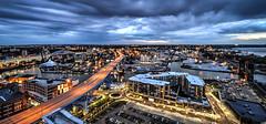 The Flats of Cleveland (Paco_X) Tags: cleveland ohio cuyahogariver theflats liftbridge city bluehour shoreway lakeerie